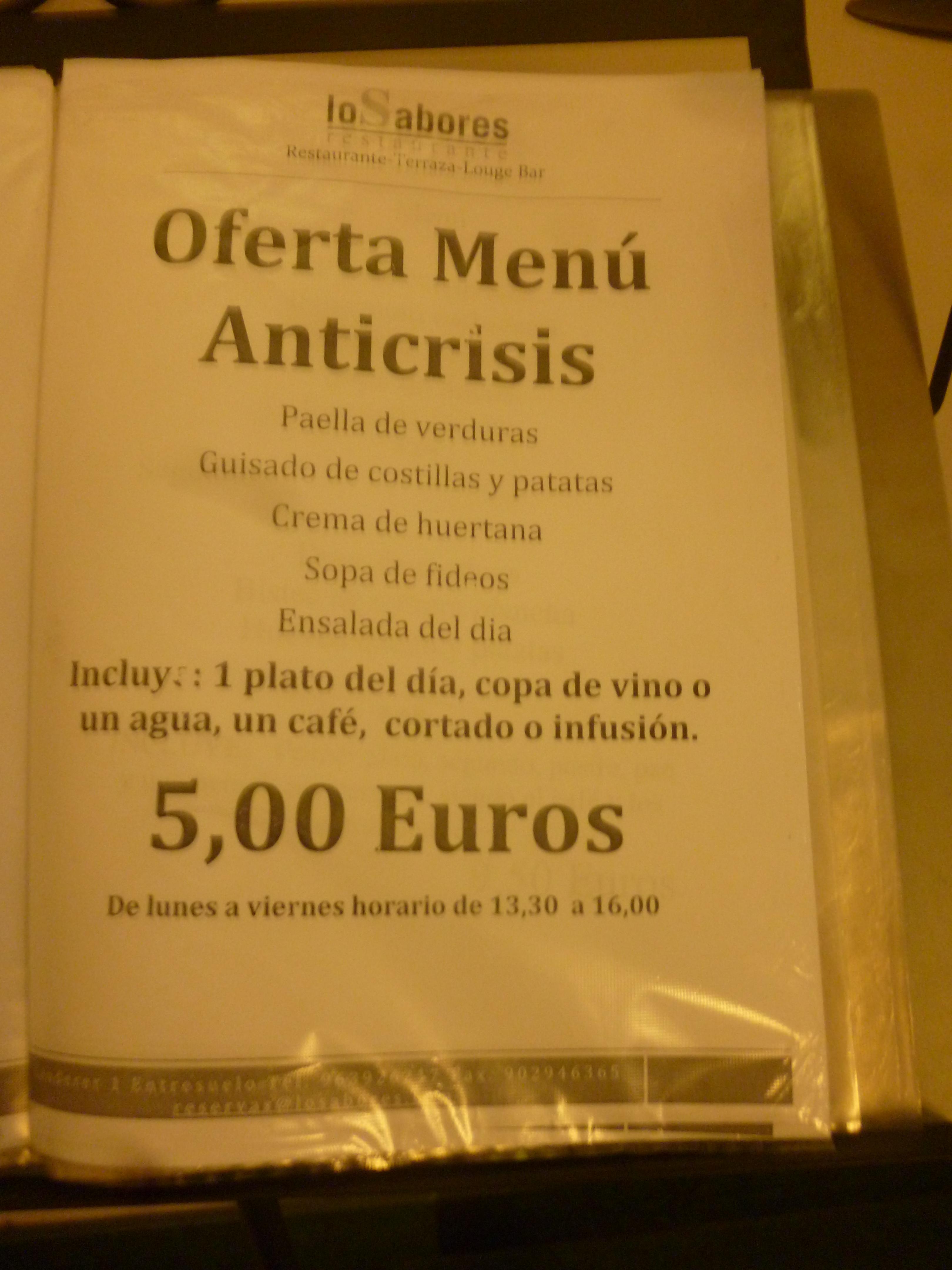 menu anticrisis ou attrappe-couillon