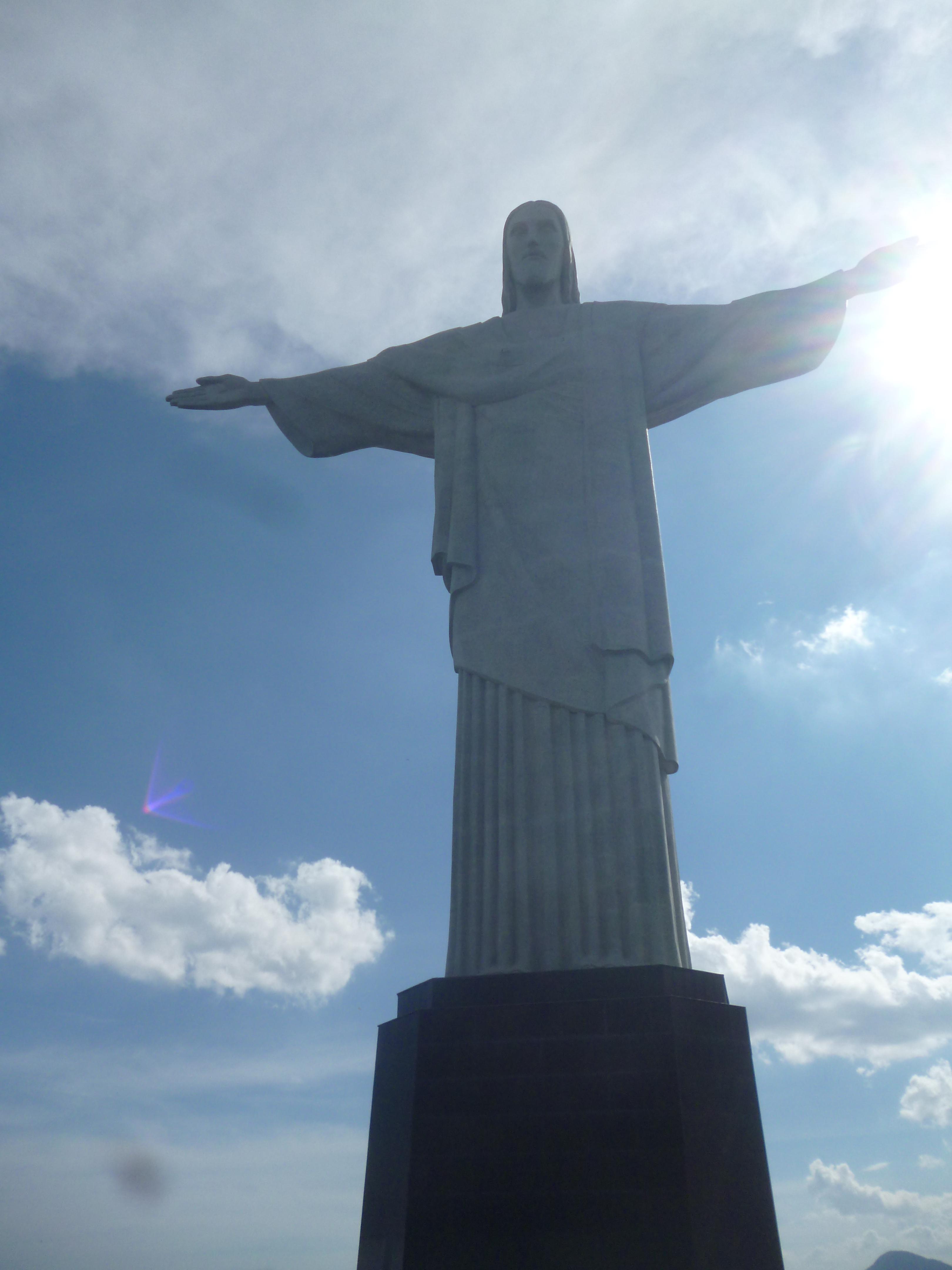 beaucoup de soleil sur le christ