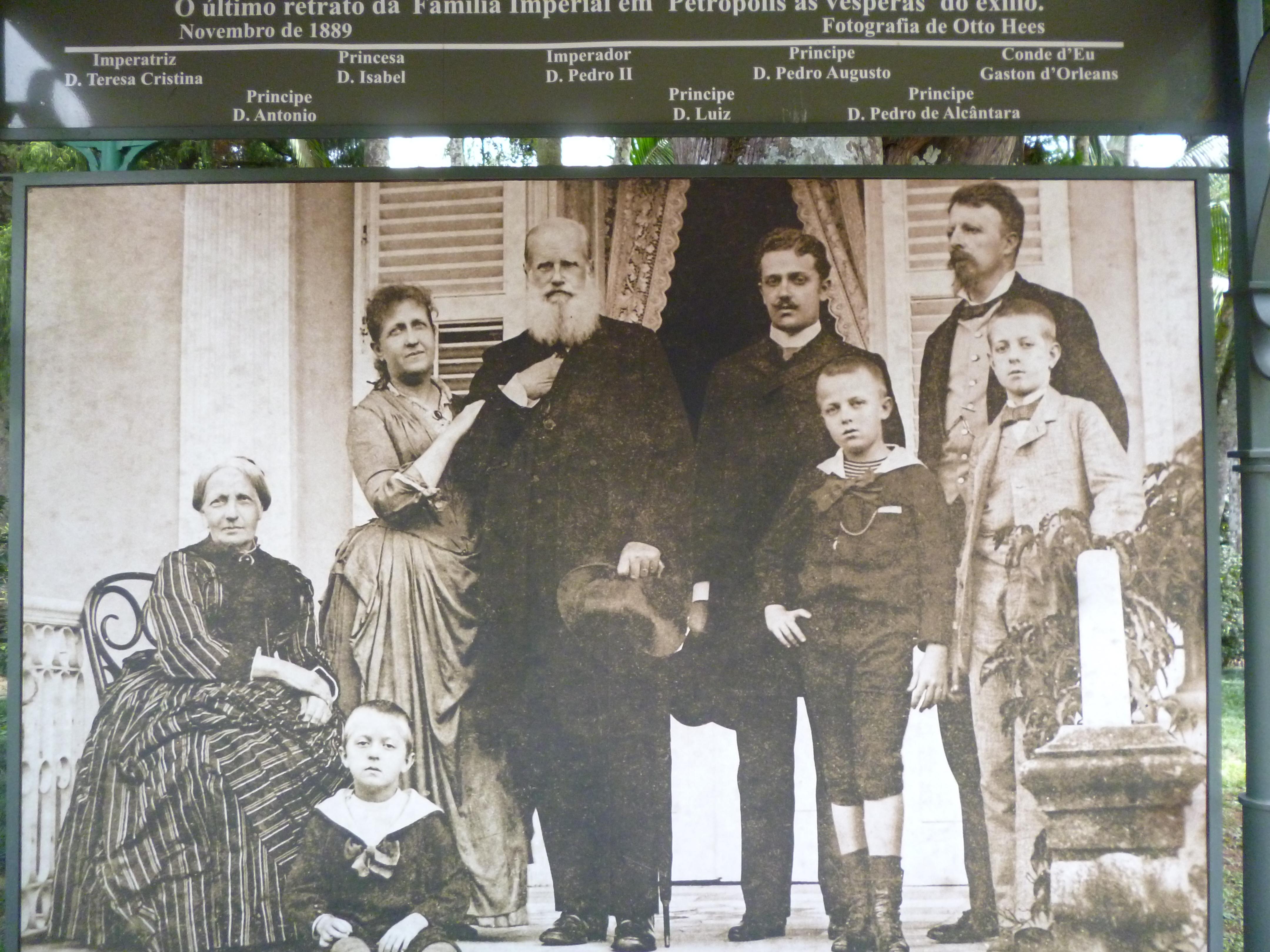 PEDRO II et sa famille