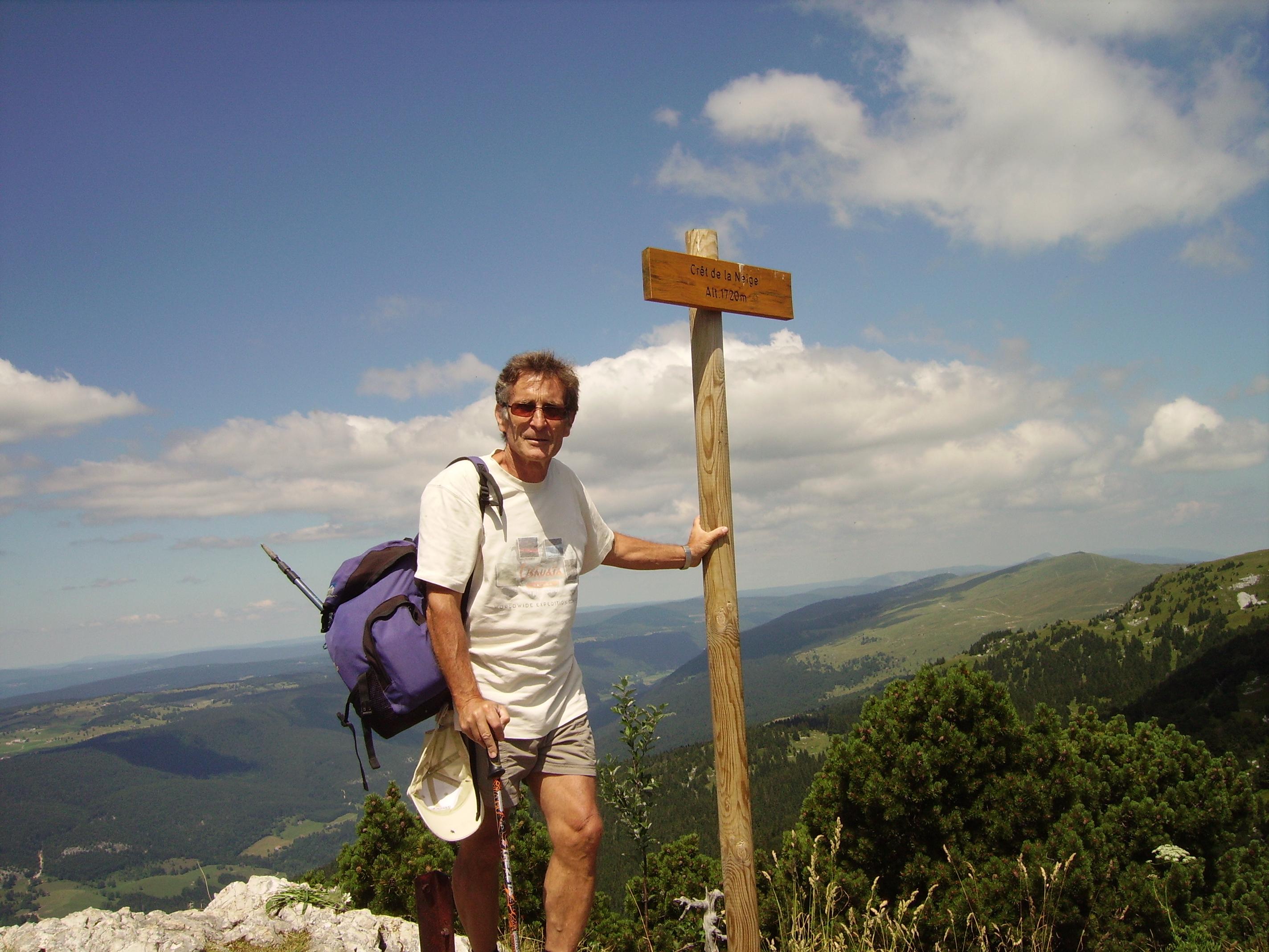 le sommet, c'est écrit dessus 1719m