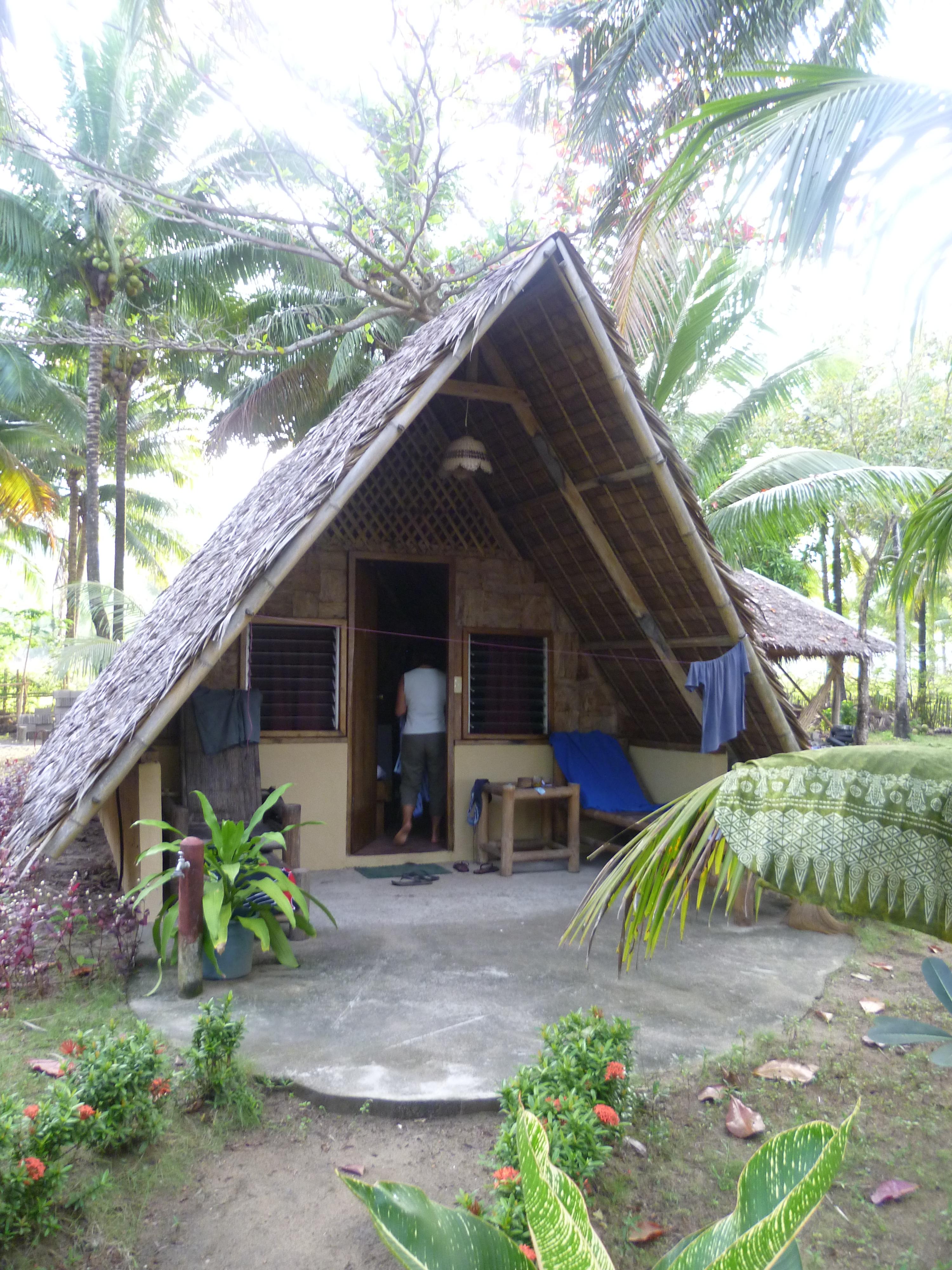 notre modeste nippa hut sur Sugar beach