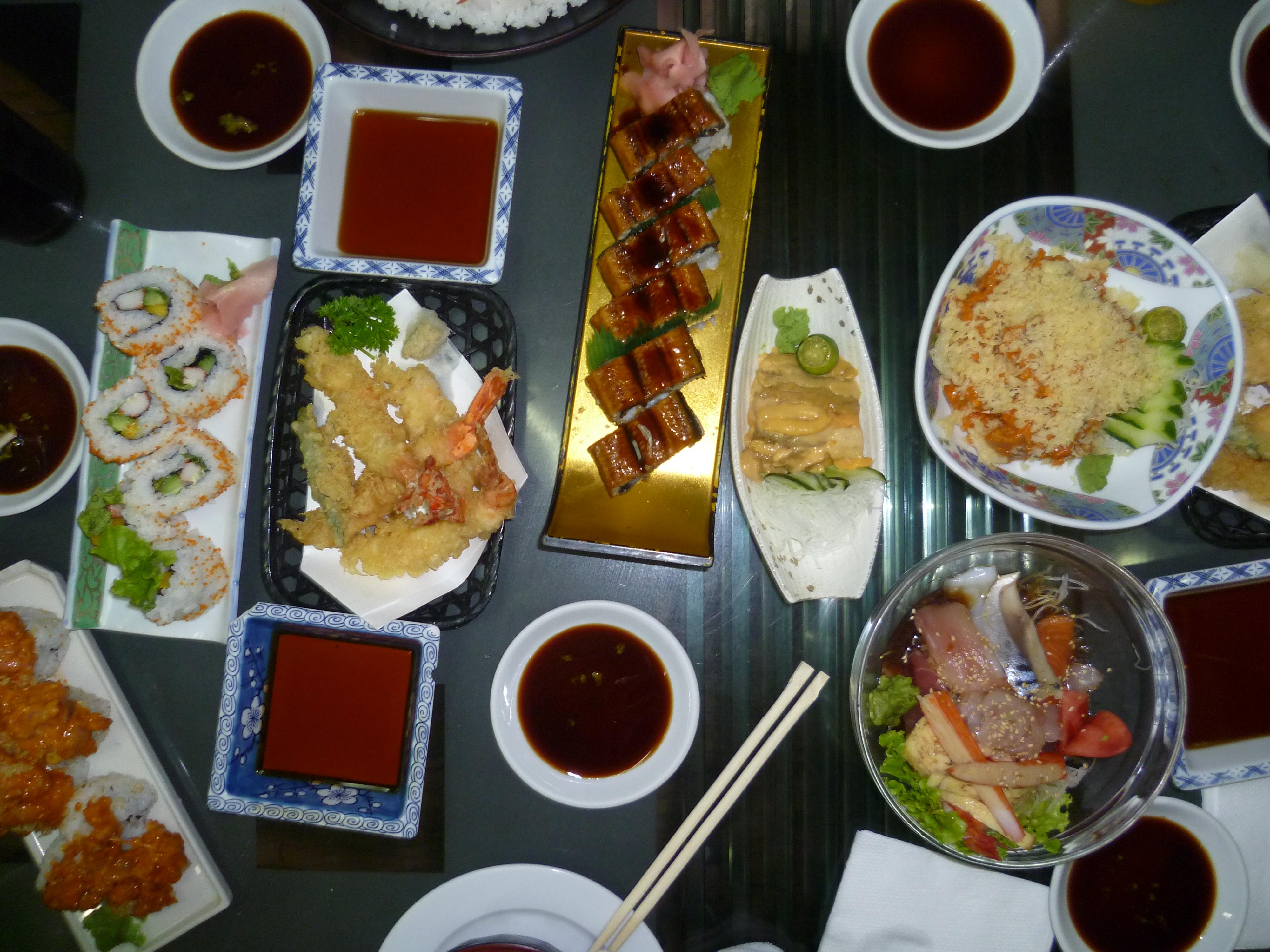 cuisine japonaise restaurant à Manille