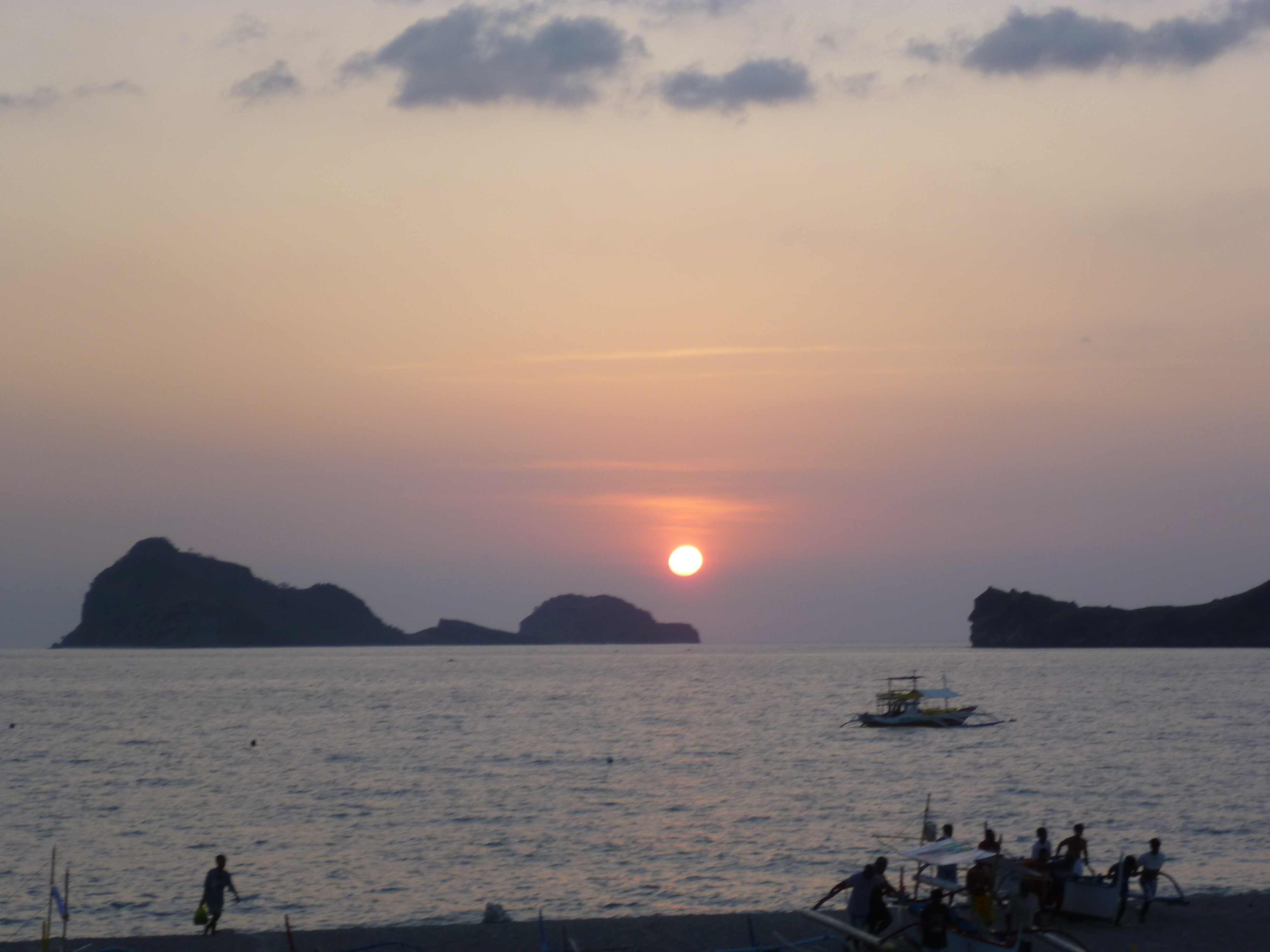 coucher de soleil sur les Capones en attendant un éventuel tsunami