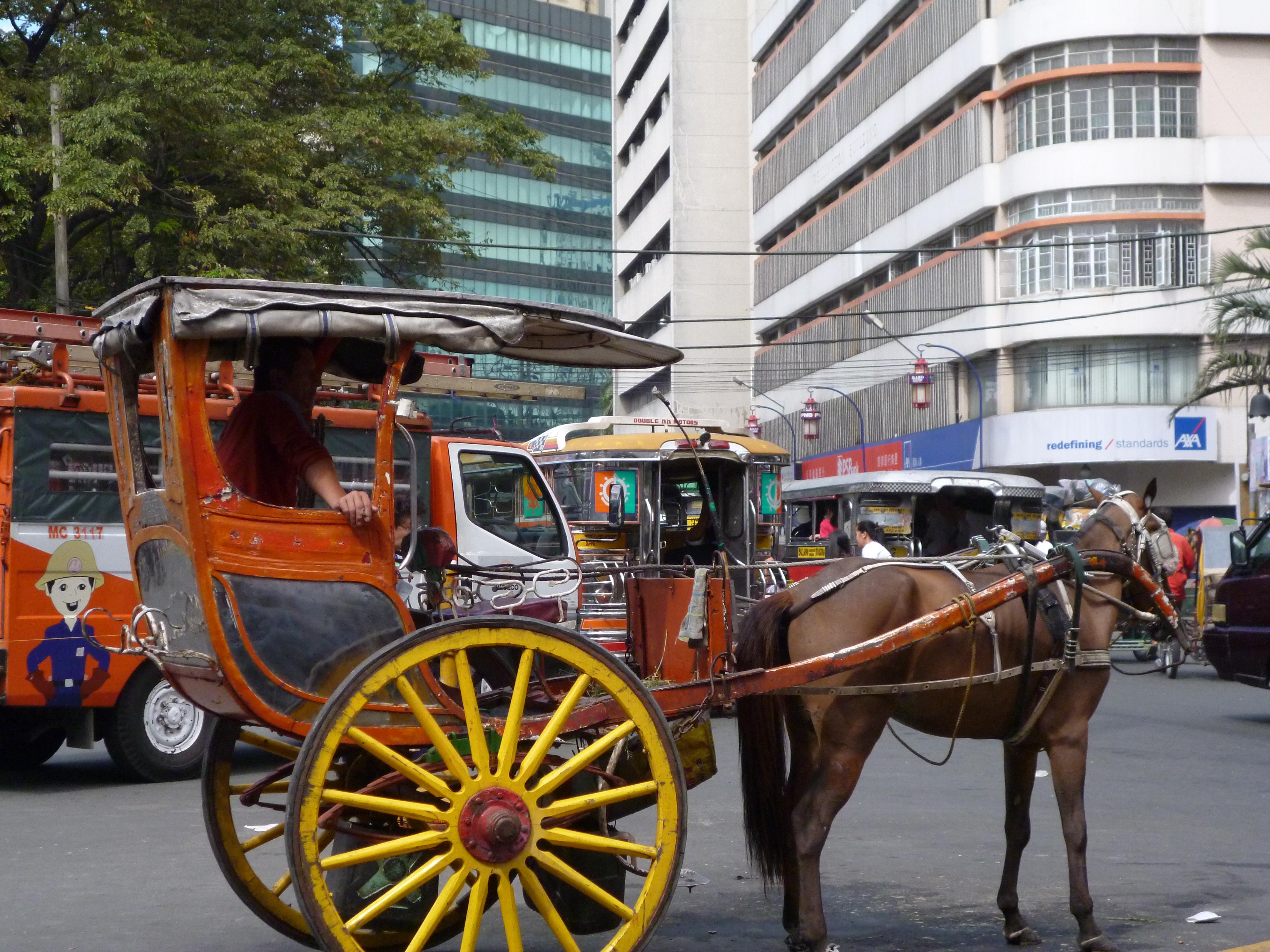 Kalesa in Manila vers Chinatown