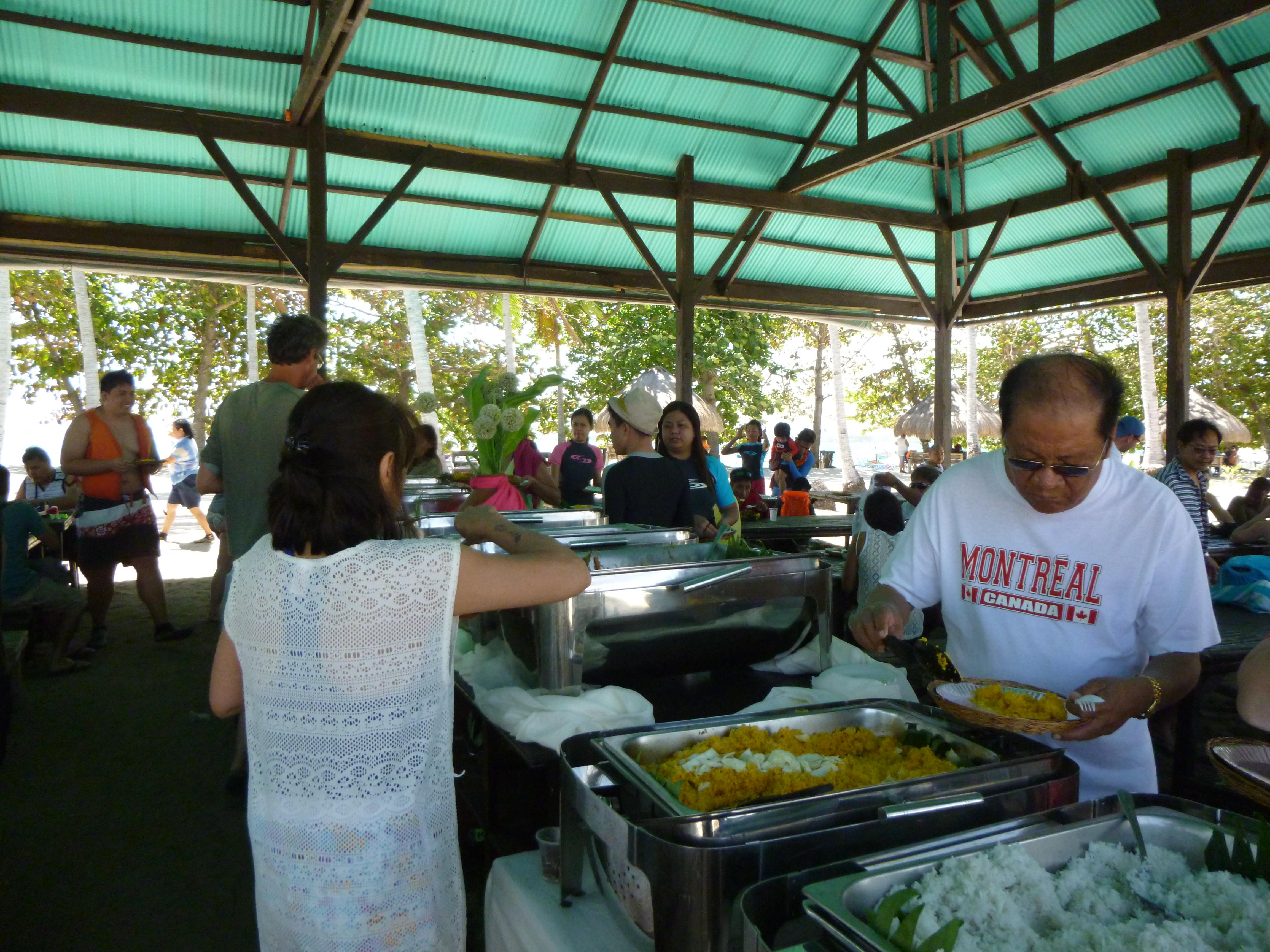 Le buffet sur Cowrie