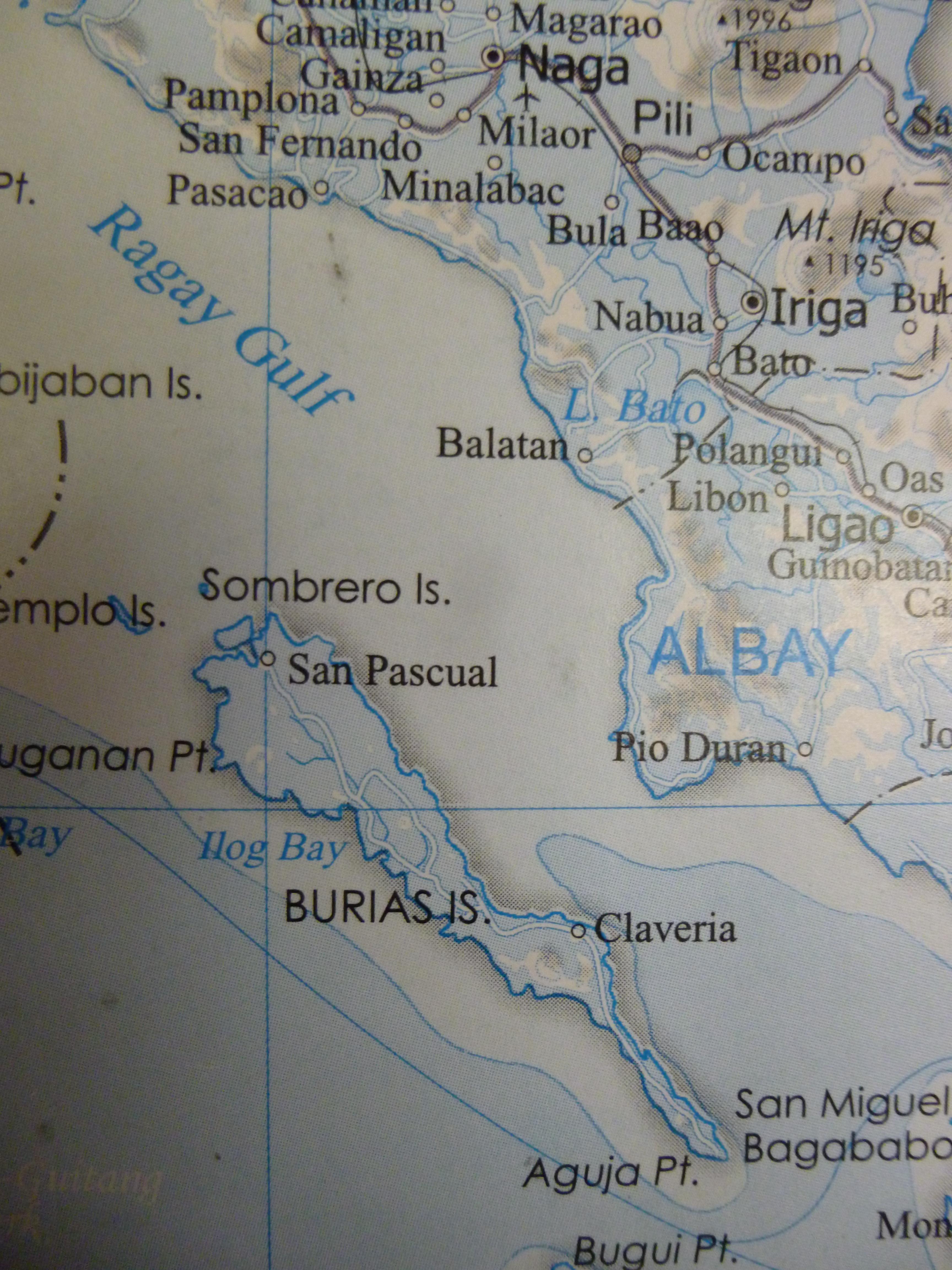emplacement de Burias island